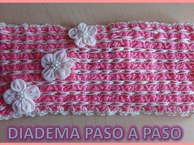 DIADEMA en crochet FÁCIL DE HACER