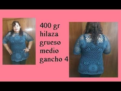 Diseñando mi blusa a crochet ( parte final)