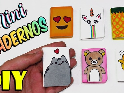 ???????? DIY: 6 Mini Cuadernos.Libretas - Manualidades Fáciles ????????