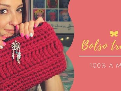 DIY Bolso clutch trapillo 100% Handmade.Forro y cremallera
