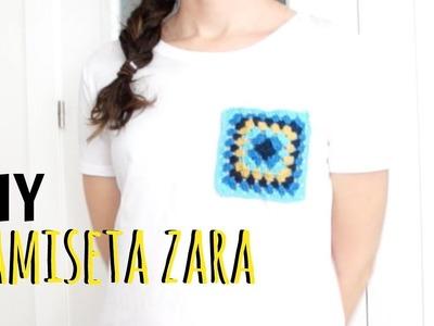 DIY camiseta bolsillo crochet zara