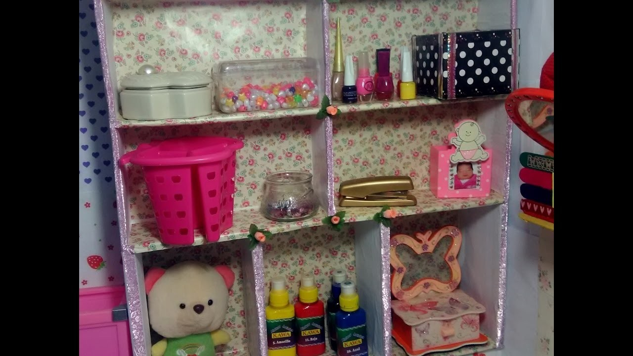 Diy estante de carton carton shelf for Estantes de carton