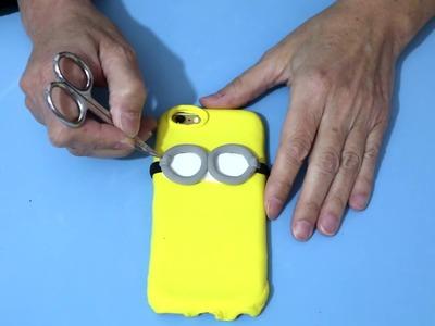 DIY Funda para móvil o celular con masa elástica o jumping clay