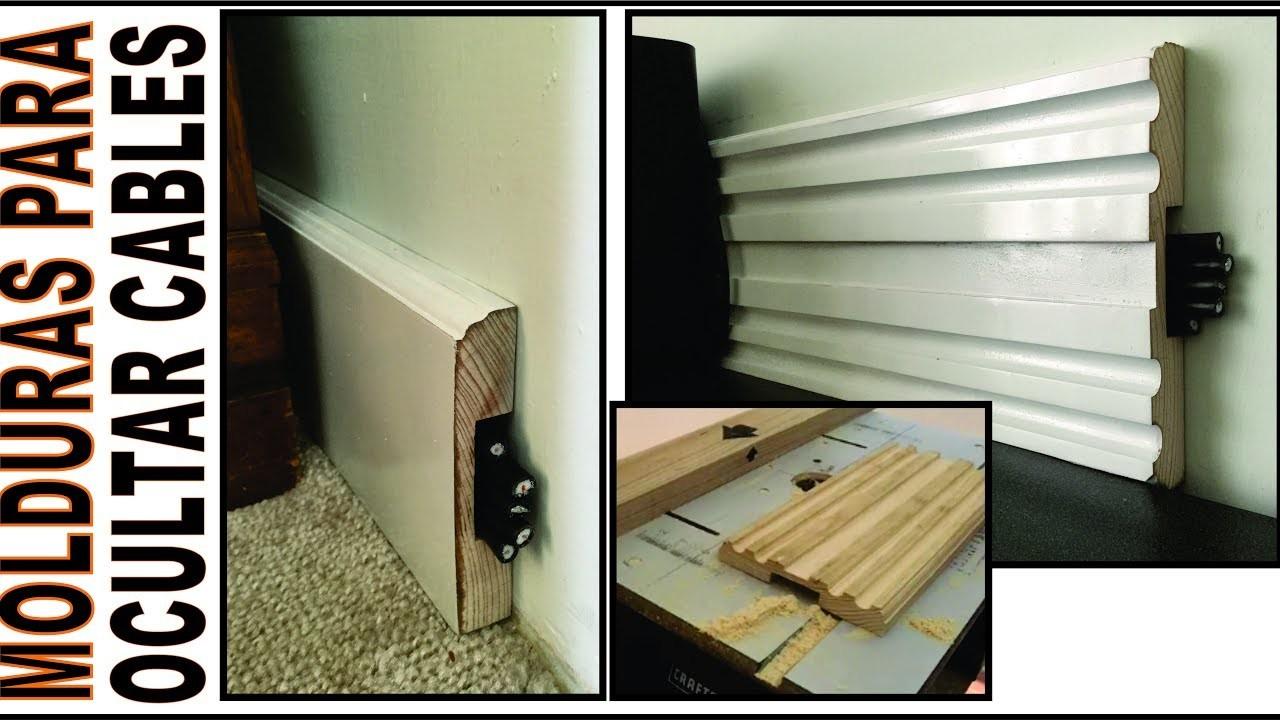 DIY. HAZ MOLDURAS, ZOCLOS, CENEFAS DE MADERA. para ocultar cables o decorar habitaciones woodwork