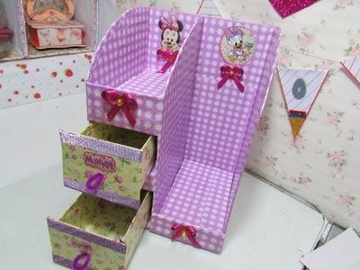 DIY- mini organizador de carton para maquillaje