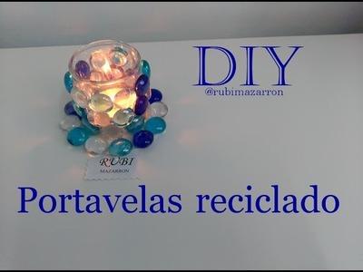 DIY. Portavelas reciclado