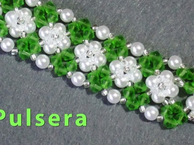 # DIY - Pulsera de perlas y tupis# DIY - Bracelet of pearls and tupis