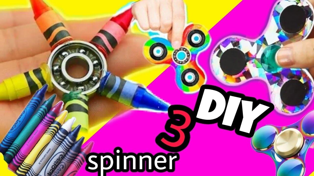 El MEJOR TUTORIAL de SPINNERS. 3 spinners Diy