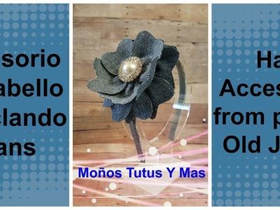 FLOR RECICLANDO JEANS Paso a Paso DENIM FLOWER RECYCLING JEANS Tutorial DIY How To PAP Video 173
