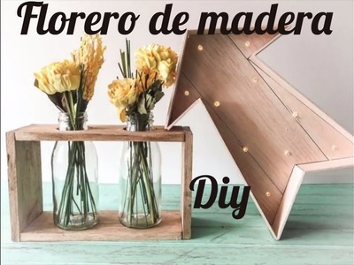 Florero madera DIY