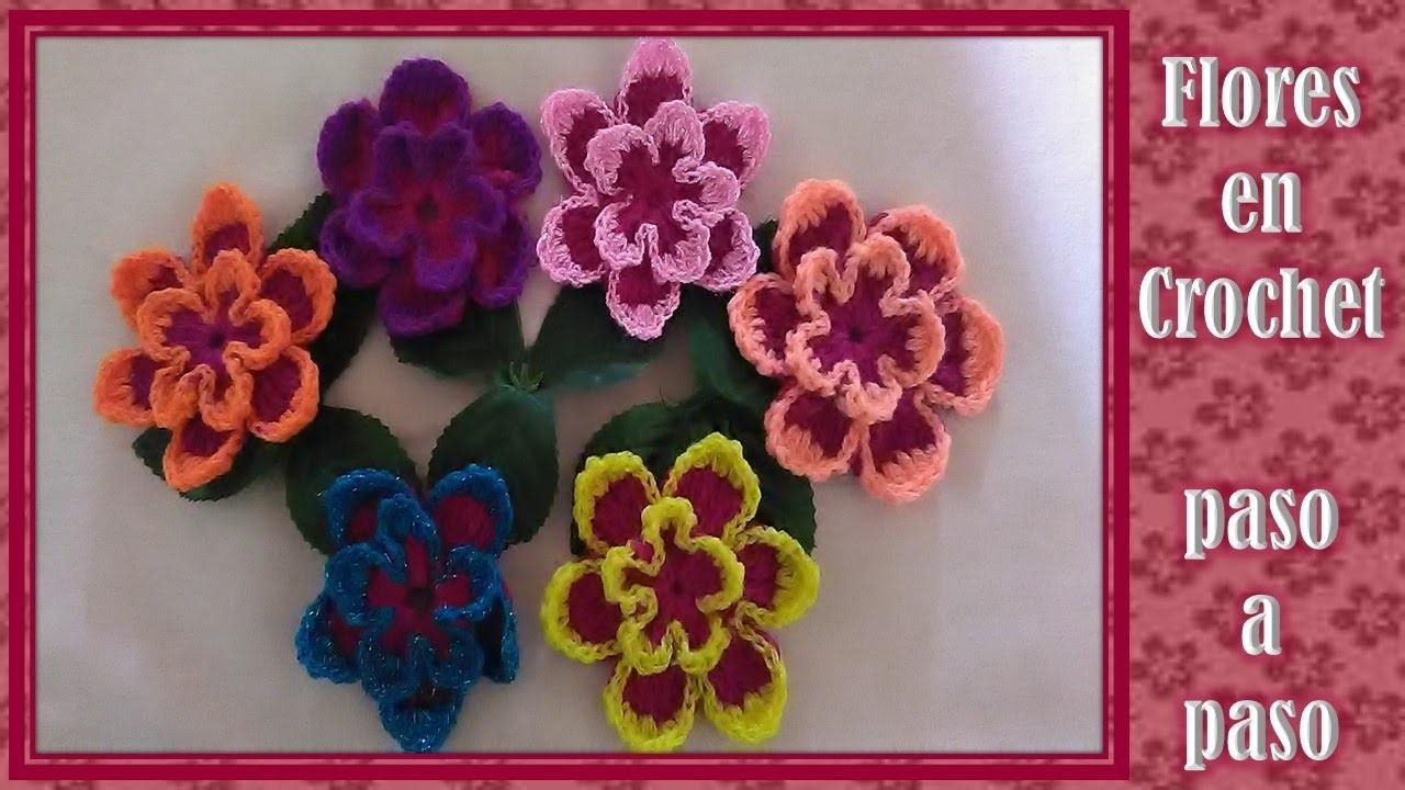 Flores En Crochet Paso A Paso Faciles De Hacer