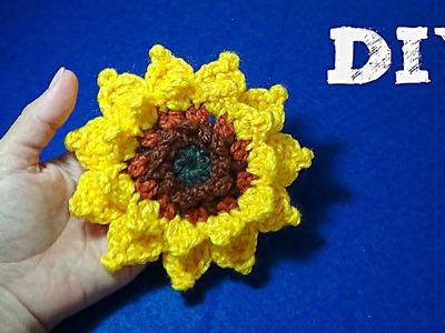 Girasol  Tejido a Crochet!!!  DIY
