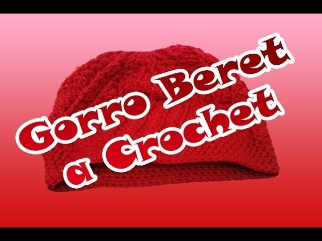Gorro Beret a Crochet todas las tallas