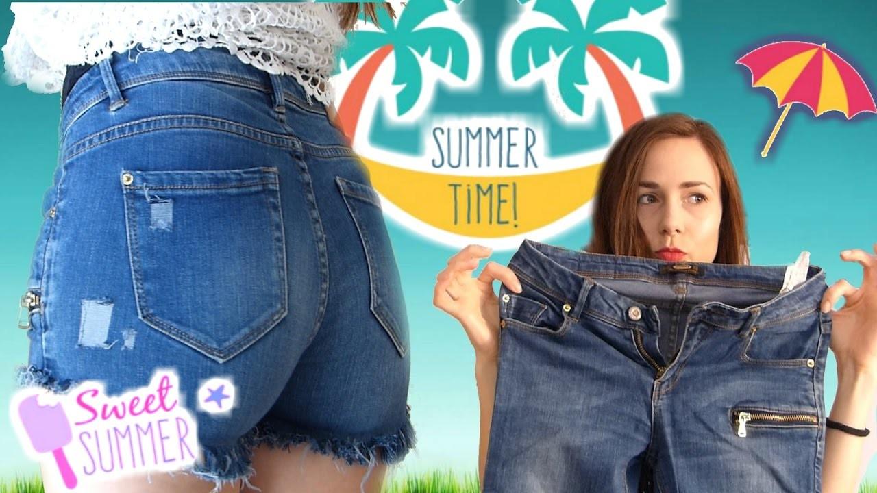 How To Make Shorts From jeans SUMMER& PANTALON????CORTO