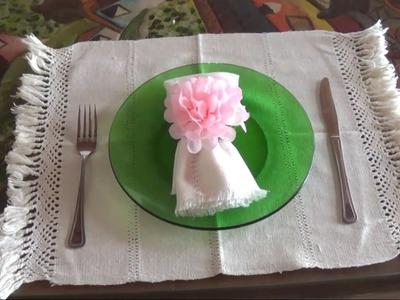 Ideal para regalar a Mamá Servilleteros con flores. DIY