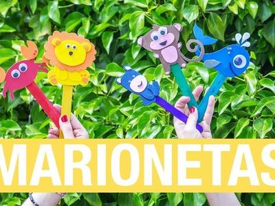 Marionetas de goma eva · Handfie DIY