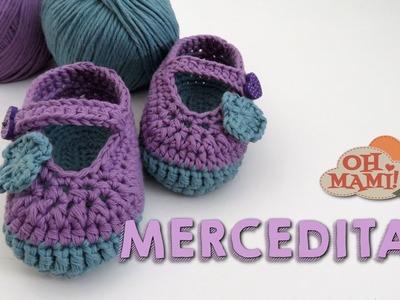 Merceditas para bebé a crochet ( De 3 a 6 meses)