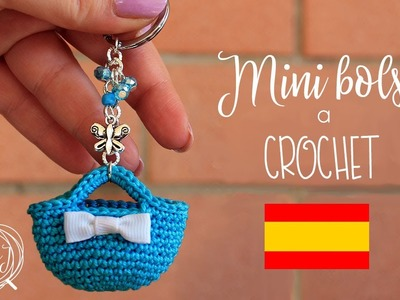 Mini bolso tejido a crochet | Llavero | MARYJ HANDMADE