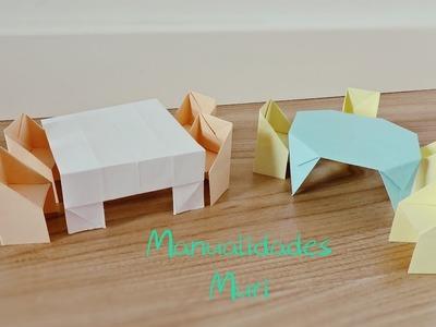 Origami - Juego de Mesas y Sillas de papel
