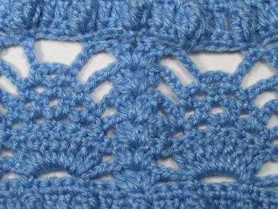 Paso a paso crochet: Cómo tejer punto fantasía popcorn y piñas ❤ Mi Rincón del Tejido