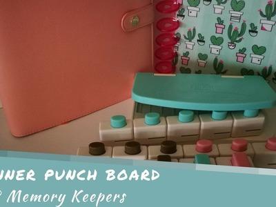 Planner Punch Board de We R Memory Keepers Primeras impresiones Español