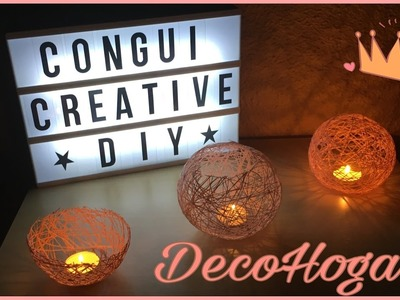 Portavelas | DecoHogar  | DIY
