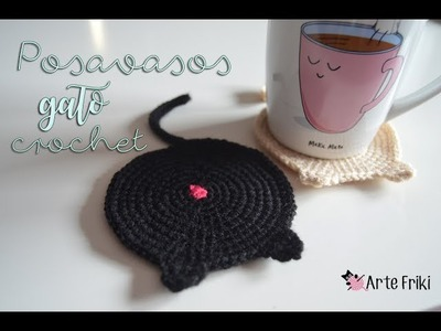 Posavasos Gato a Crochet