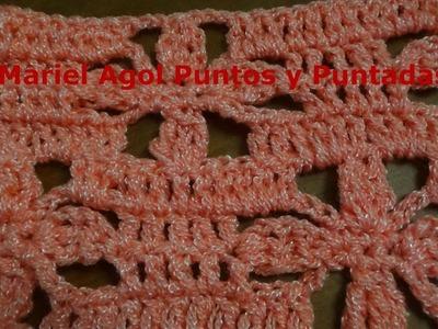Puntada a crochet muy linda y rápida de hacer. Muestra No. 138
