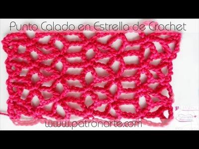 Punto Calado en Estrella de Crochet