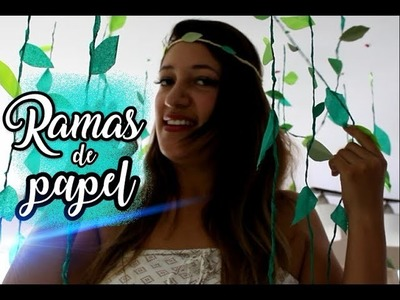 Ramas de papel | Fiesta Safari | Decoraciones | Safari Party | DIY