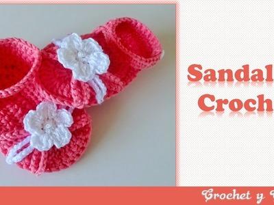 Sandalias con flor tejidas a crochet (ganchillo) ???? ???? ⛱  Parte 2
