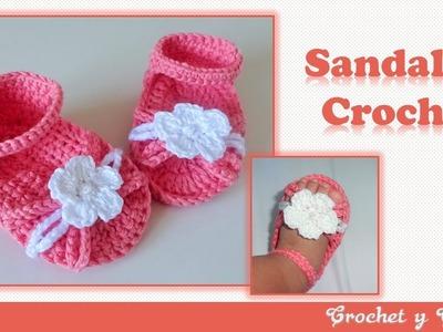 Sandalias con flor tejidas a crochet (ganchillo) ???? Parte 1