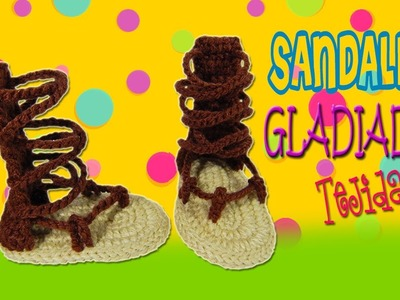Sandalias Huaraches de Gladiador tejidas a crochet |  Paso a paso