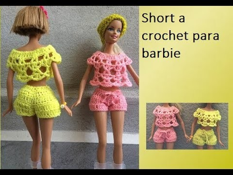 Short a crochet para Barbie Norma