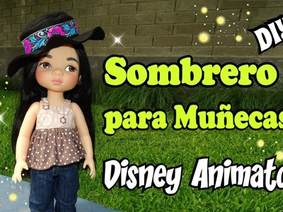 Sombrero para muñecas animators Hat for dolls Tutorial DIY Facil