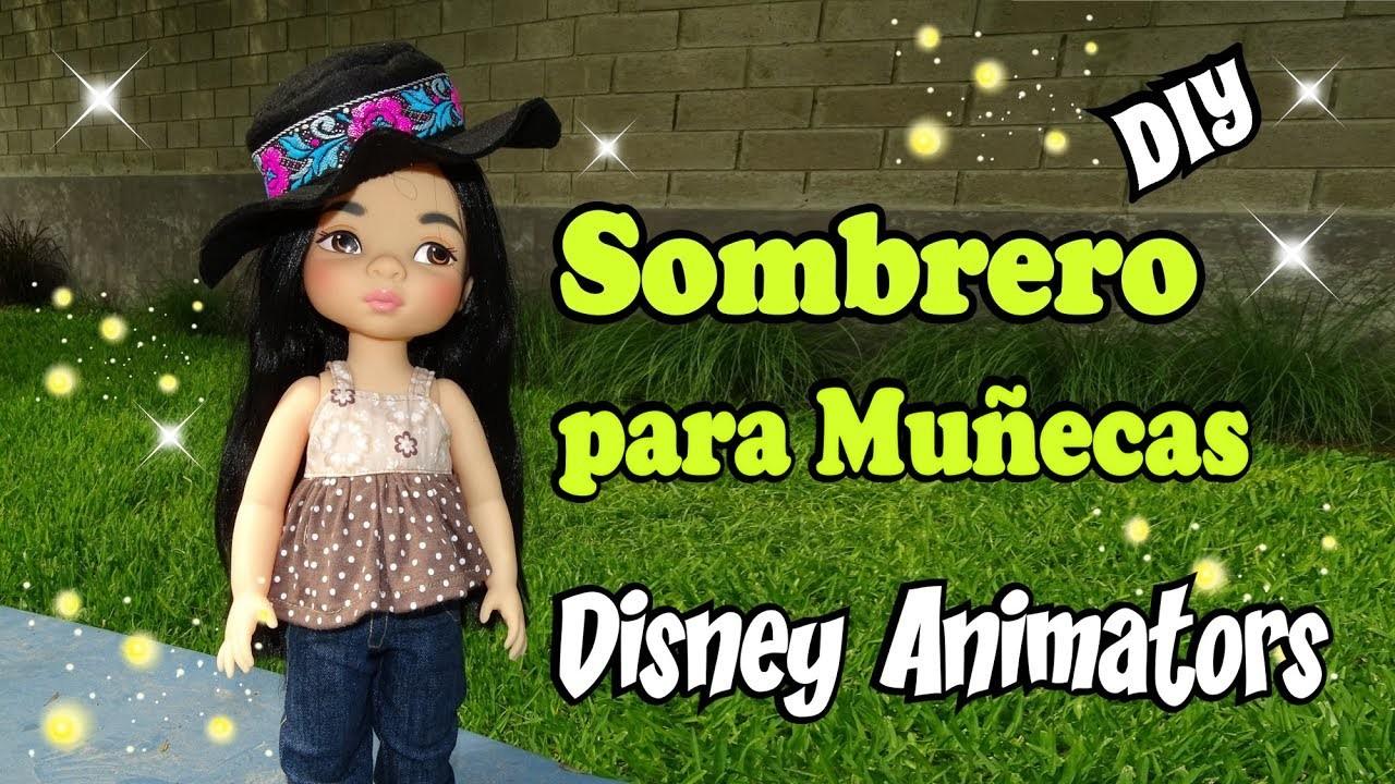 Sombrero para muñecas animators Hat for dolls Tutorial DIY Facil