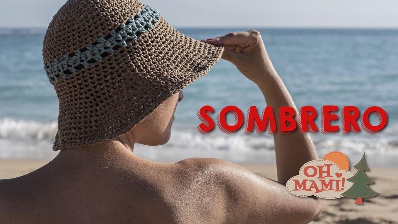 Sombrero playero a crochet