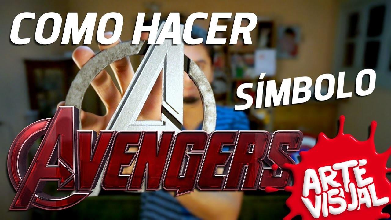 THE AVENGERS - DIY. COMO HACER SÍMBOLO #LosVengadores #TheAvengers @Avengers