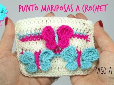Tutorial Mariposas en relieve a crochet