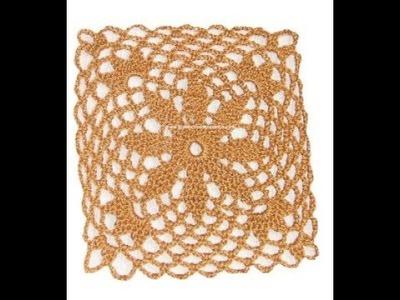 Unión cuadrados calados crochet   Camiseta crochet 2