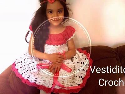 ???? Vestidito Para Niñas en Crochet(ganchillo) a la Talla Deseada????Parte #2