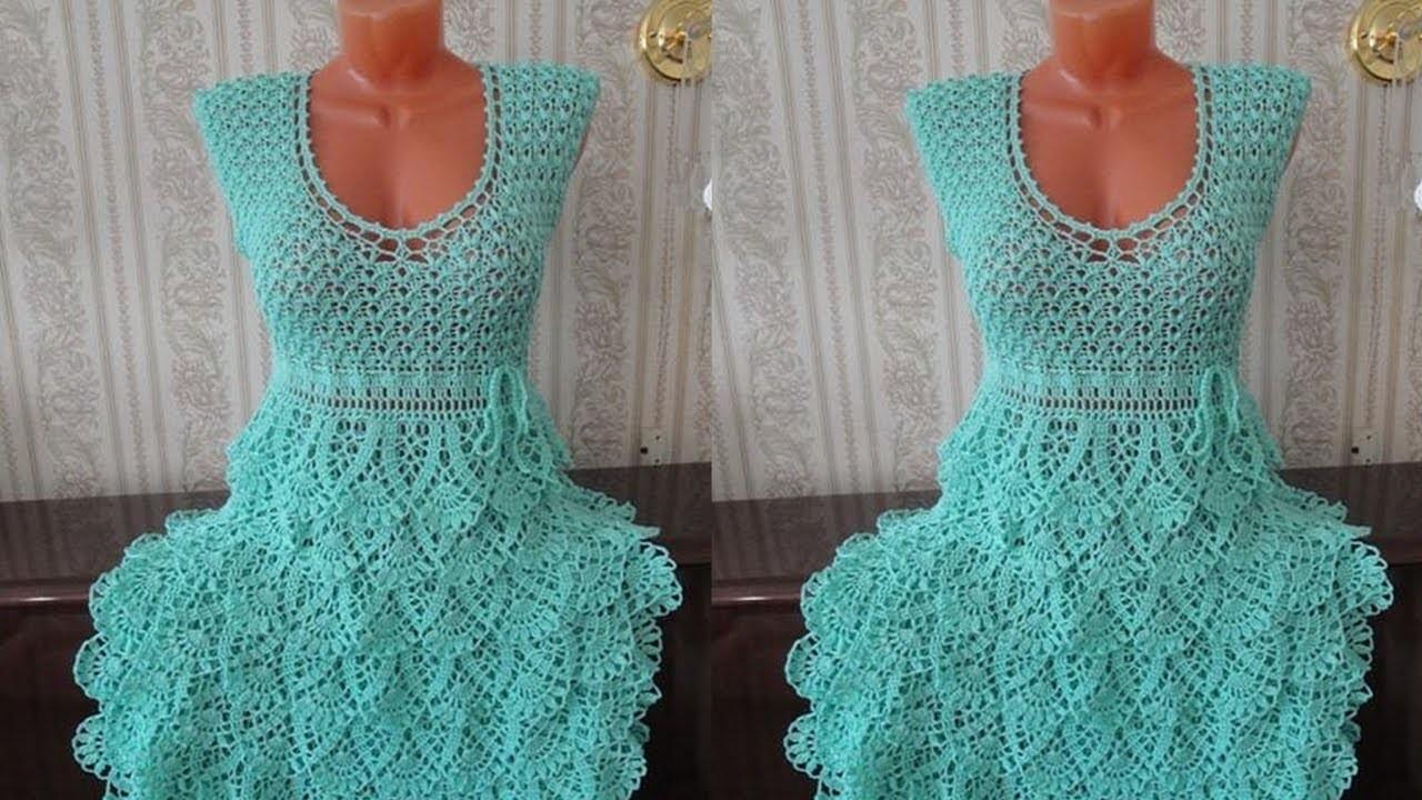 Vestidos tejidos en crochet para mujer