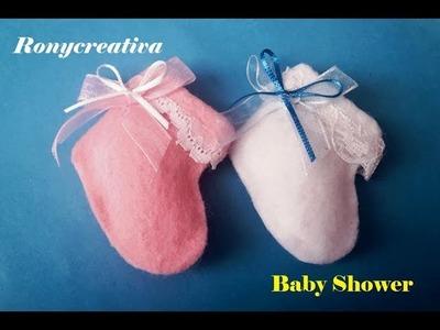 Zapatitos para Baby Shower video tutorial DIY