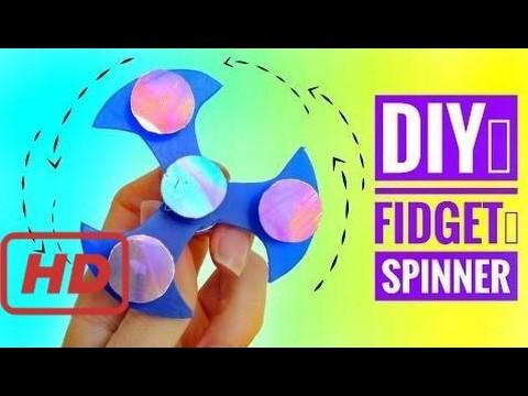 DIY Cómo hacer un FIDGET SPINNER y rodamiento CASERO | Juguete antiestrés de moda #2