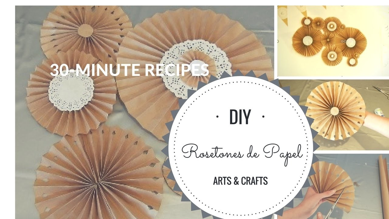 DIY: Rosetones de papel Kraft y blondas