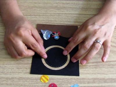 DIY: Tarjeta espacial.cardmaking.estrellas.astronauta.