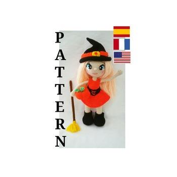 patron amigurumi, Annie, la brujita. pdf español