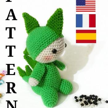 patron amigurumi billy, el dragon. pdf español