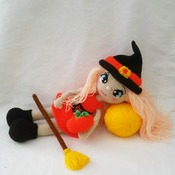 pattern amigurumi annie, the little witch
