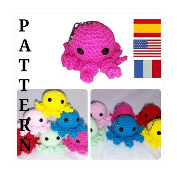 pattern amigurumi mini octopus pdf english